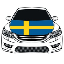 Швеция крышка капота, Швеция накладка на капот автомобиля флаг, двигатель флаг, спандекс, четыре стороны снаряд ткань