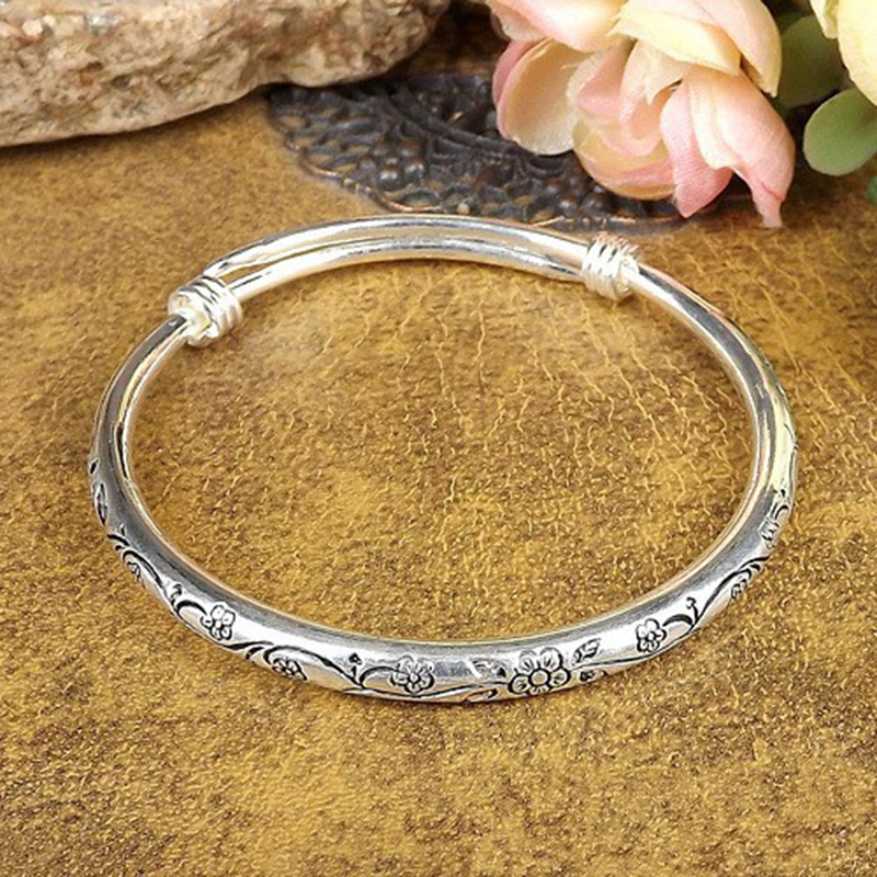 Metal Tibetan Silver Color Bracelet Bangles Cuff Charm Bracelets Men Jewellry Adjustable Size