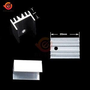 10 шт. TO-220 серебристый алюминиевый радиатор регулятор/MOSFET с винтами радиатор кулер 20x15x11 мм