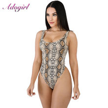 Sexy Snake Print Strapless Night Party Bodysuit Women Casual Off Shoulder Streetwear jumpsuit Office Lady Tops Female overalls(China)