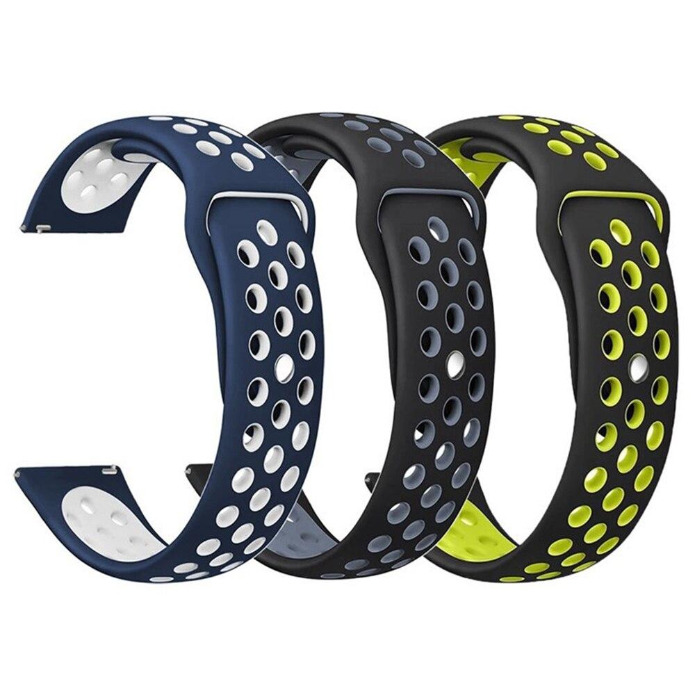 20mm 22mm Sport silikon Band für Samsung Galaxy Getriebe S3/S2/Getriebe Sport Band Für Huami Amazfit Bip/Amazfit 2 Smart Armband