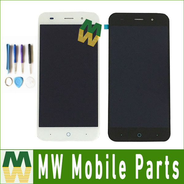 For ZTE Blade V6 X7 D6 Z7 T660 T663 5.0 inches LCD And Touch Screen Assembly Replacement Black & White Color With Tools