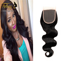 Peruvian Virgin Hair Body Wave Closure 7a Human Hair With Lace Closure Free/Middle/Three Part Lace Closure Peruvian Lace Closure