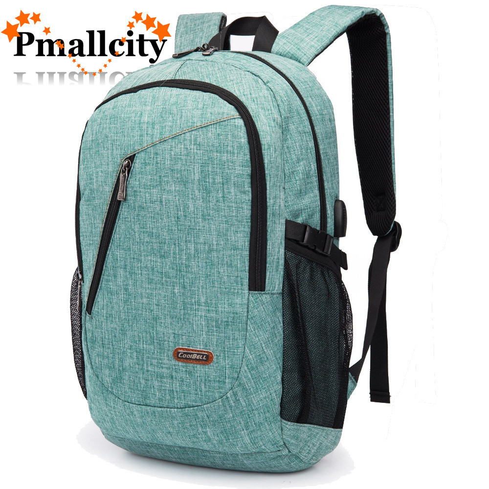 2018 Coolbell Anti-thief USB charging 15.6 17.3 inch laptop backpack for women Men Backpack school backpack Bag for Male Mochila