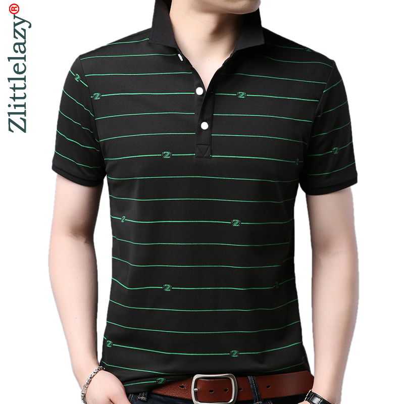 2019 brand casual summer fitness short sleeve   polo   shirt men poloshirt jersey striped mens   polos   tee shirts dress fashions 62922