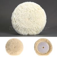 7 Inch 180mm Wool Polishing Polishers Clean Buffing Pad Bonnet For Furniture Car Cleaning Detailing Auto