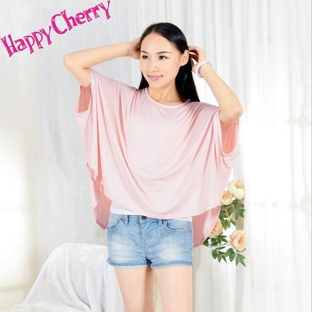 Happy Cherry Модальные Материнства Т ShirtsTops Грудное Вскармливание Одежда для Женщин Лето Беременность Рубашки