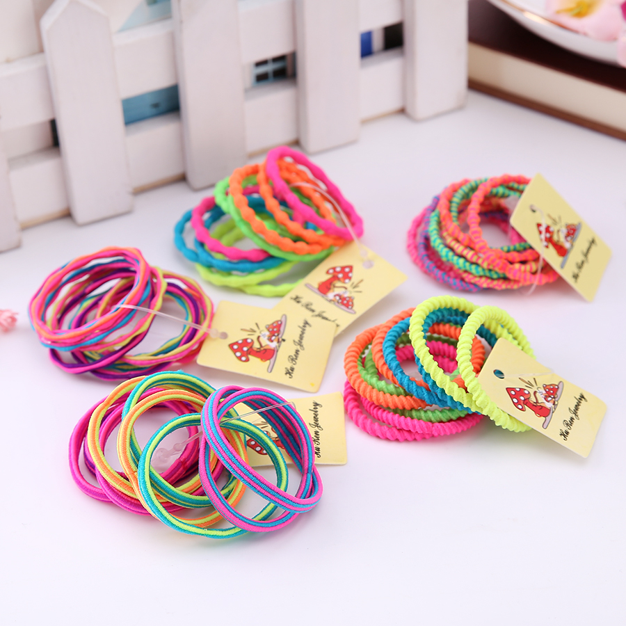 50 pcs/pack Hot Sale Girls Colorful Elastic Hair Band Lovely Kids Children Hair Ropes hair accessories girls 2018 hot sale diy hair styling synthetic wig donut foam head band magic tool bun maker hair band for women girls hair accessories