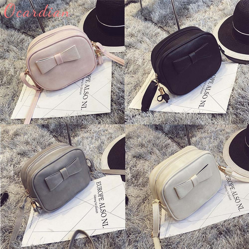 OCARDIAN High quality Fashion Women Leather Bowknot Handbag Cross Body Shoulder Messenger Coin Bag Oct20 ...