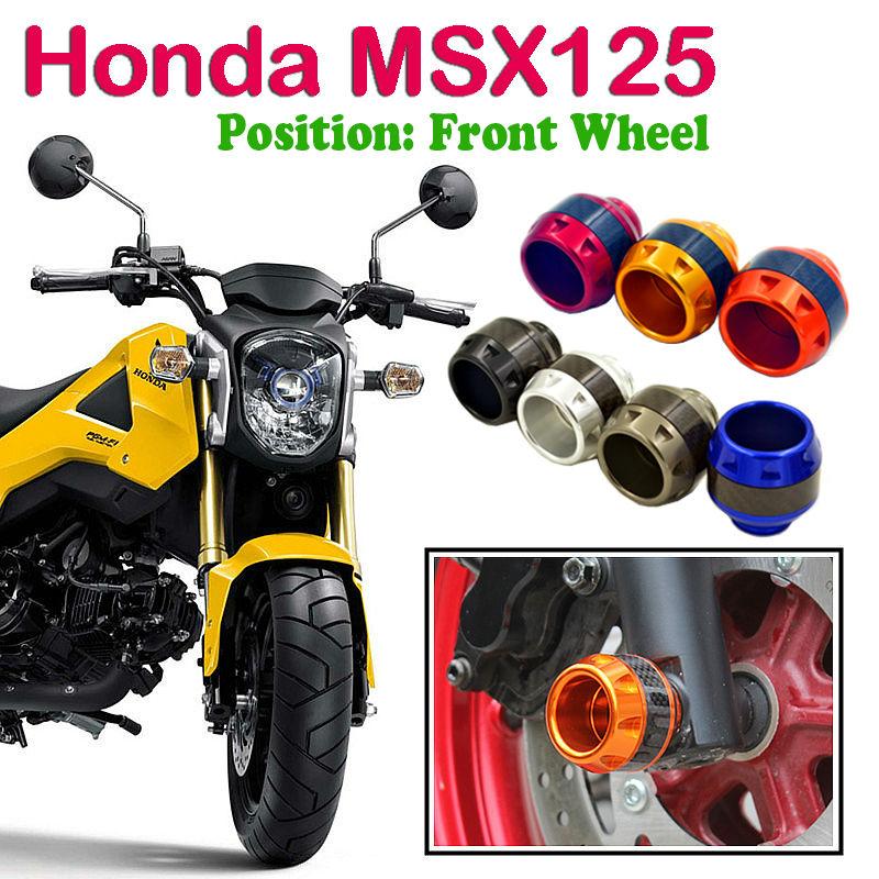 Motor Frame Slider Crash Pad Falling Protection for Honda Grom MSX125 Silver