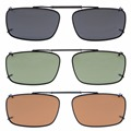 C61 Mix Eyekepper Grey/Brown/G15 Lens 3-pack Clip-on Polarized Sunglasses 54x34MM