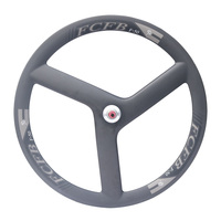 2017 new FCFB F50 700C Full Carbon Fiber Tri spoke WheelClincher 3 Spoke Wheels | 3 spoke rims