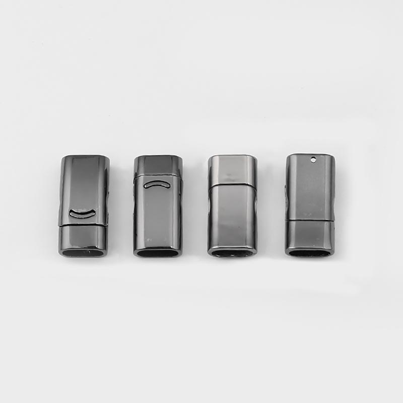 5x Gunmetal Magnetic Clasp for 10*5.5mm Flat Leather Cord Connector DIY Jewelry