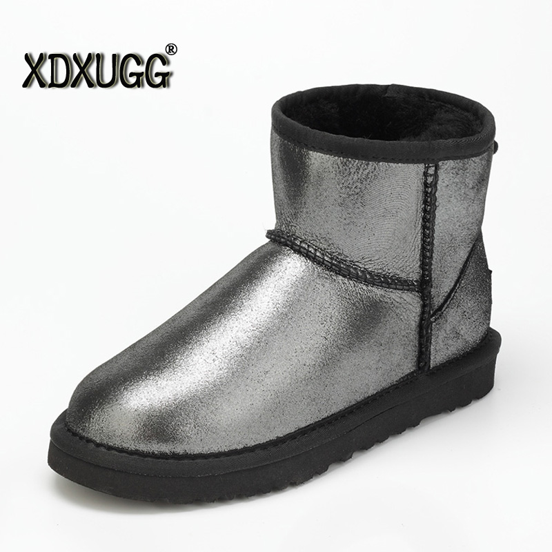 The high quality/Natural sheep fur 2018 snow boots/Women's Short Boots/ Winter Thick Warm Boots/Large size/Free shipping snow boots free delivery of autumn and winter high quality 100