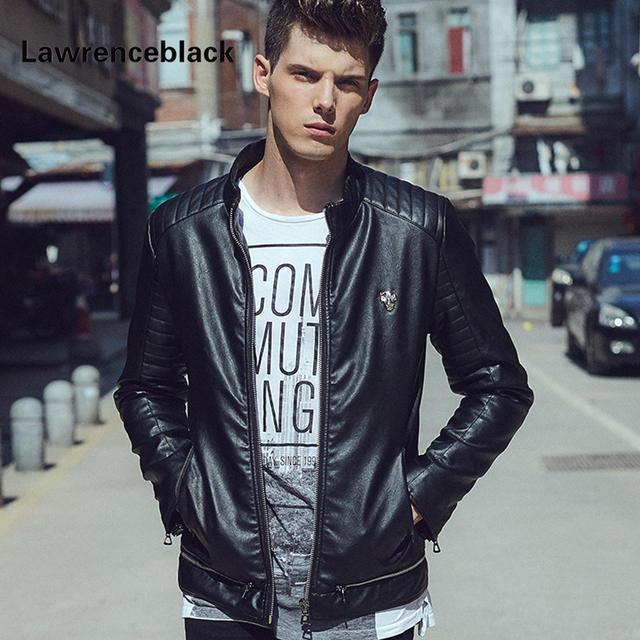 Leather Jacket Men Punk Brand Slim Suede Luxury Fashion Coats Jaquetas Casual Leather Motor ...