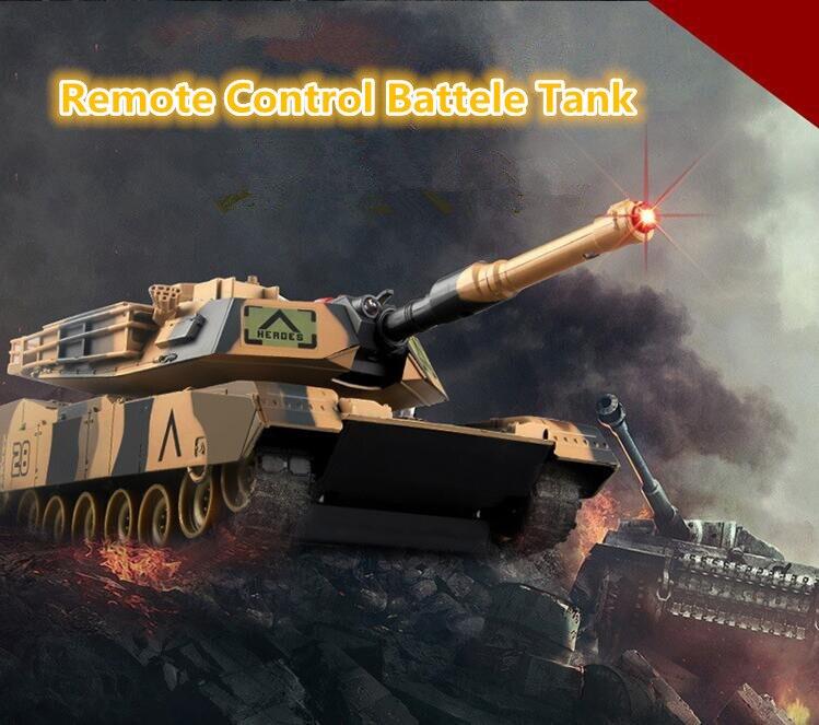 Vente chaude garçon RC jouet 508A 28 CM infrarouge visée lancement 2 pièces coupe réservoir de Combat 40 M allemand Tiger America M1A2SEP RC réservoirs de bataille jouet