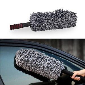 Image 1 - Chiffon de nettoyage en microfibre, 1 pièce, cire rétractable de haute qualité, pour lavage de voiture, brosse de nettoyage