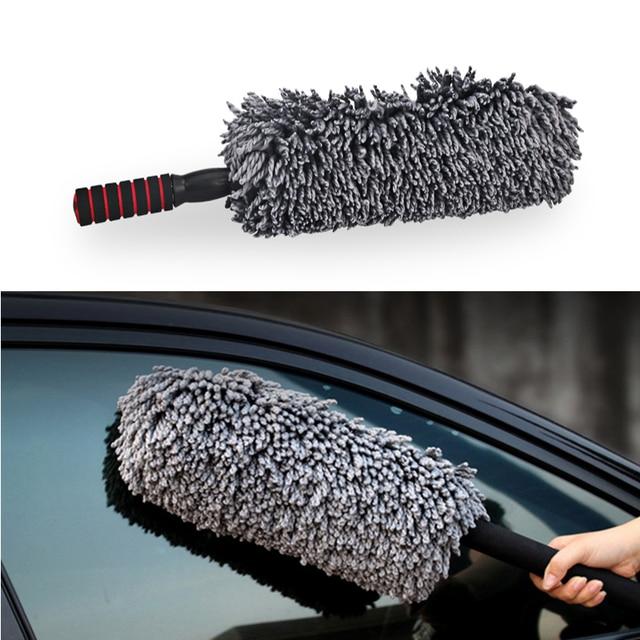 Chiffon de nettoyage en microfibre, 1 pièce, cire rétractable de haute qualité, pour lavage de voiture, brosse de nettoyage
