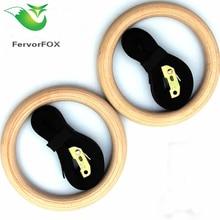 FervorFOX 1 пара/лот деревянный 1,1 «Портативный гимнастика Кольца дома фитнес тренажерный зал crossfit Силовые тренировки