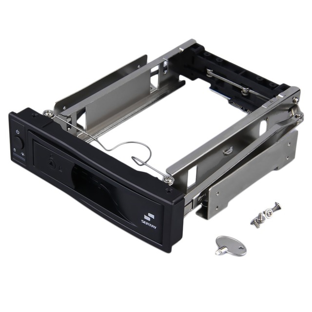 3.5 inch HDD SATA Hot Swap Internal Enclosure Mobile Rack with Key Lock