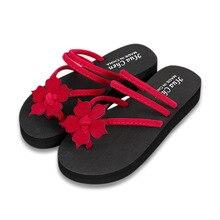 купить women Slipper Summer Fashion Flower Clip Toe Flip Flops Non-Slip Wedges Beach Flip Flops Ladies Casual Fashion Flats Shoes по цене 239.57 рублей