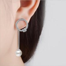 Everoyal Trendy 925 Sterling Silver Earrings For Women Accessories Fashion Zircon Pearl Girls Female Gift