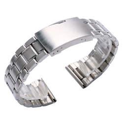 20 мм 22 мм серебро Нержавеющаясталь часы ремешок wo Для мужчин S Для мужчин заменить ремешок раскладывающейся застежкой с прямой конец