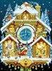 RA0246 House Clock Scenic Embroidery Diamond Pattern Room Mosaic Arts DIY 5D Diamond Painting Resin Cross