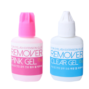 2pcs/lot 15g Pink/Clear Gel Remover for Eyelash Extension Glue from Korea Removing Eyelash Extensions