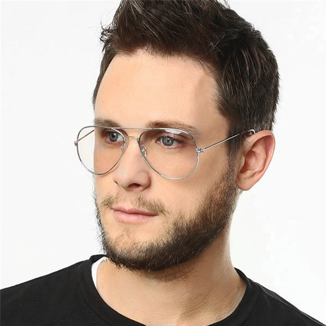 2a3ecd7b70 Retro Big Oversized Titanium clear glasses frame for women and men fake eyeglasses  Pilot optical eyewear