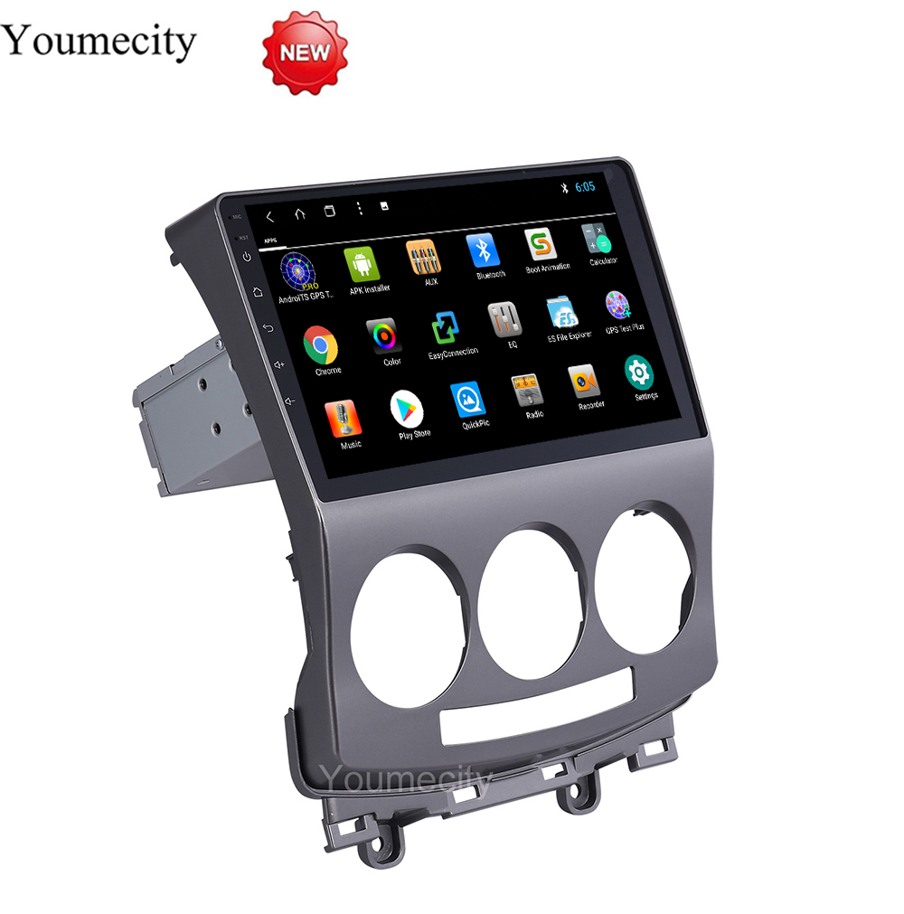Youmecity!Octa Core 32G ROM Android 8.1 Car dvd gps player for Mazda 5 2005 2010 radio video Stereo Audio navigation