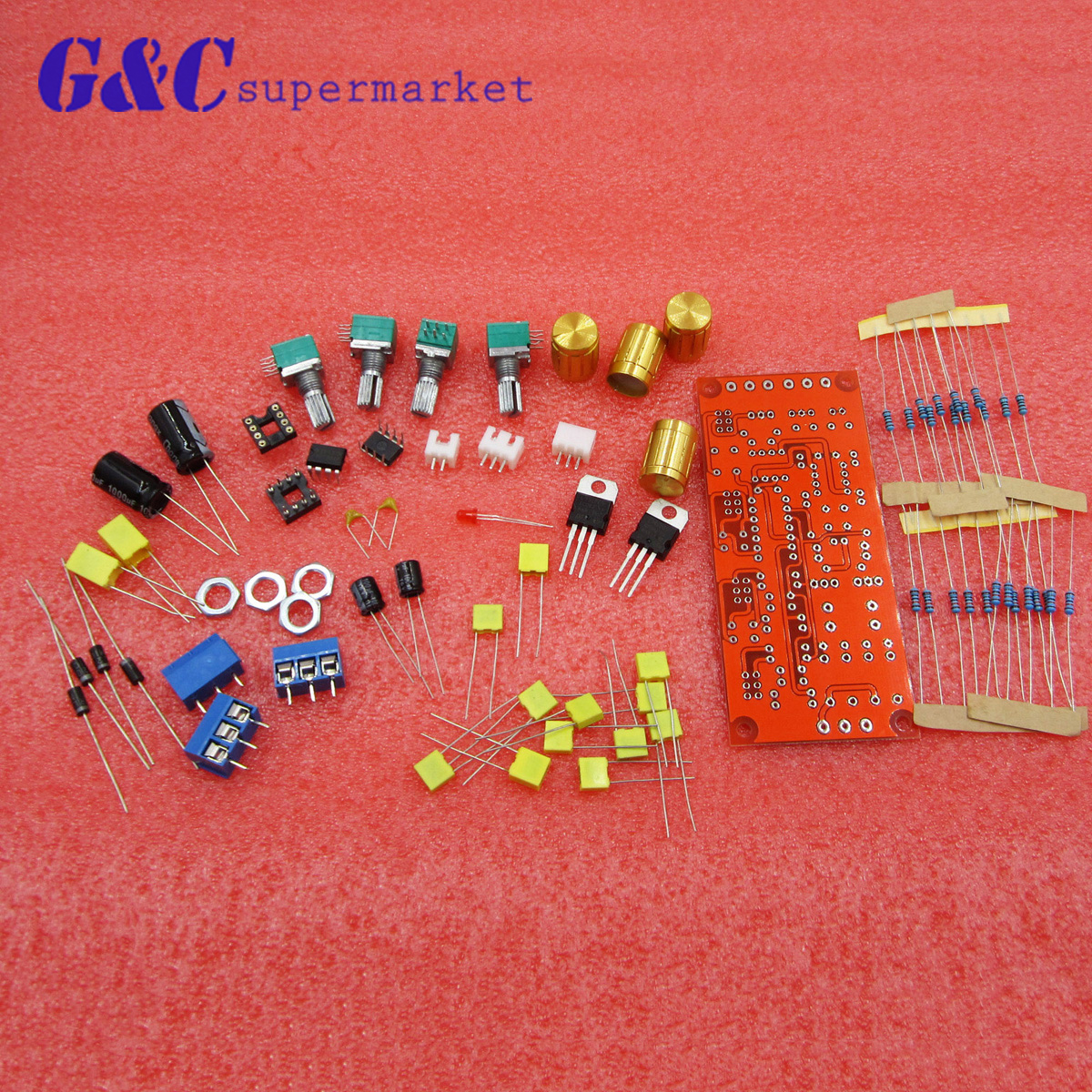 New Ne5532 Ac 12v Op Amp Hifi Amplifier Preamplifier Volume Tone Eq Preamp Circuit Control Board Diy Kit Module Set 10 Times In Integrated Circuits From