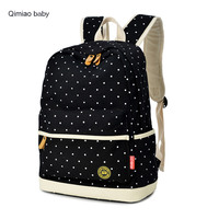 Korean Style Women Canvas Backpack College Type Travel Bag Multifunction Mummy Nappy Bags For Baby Outdoor