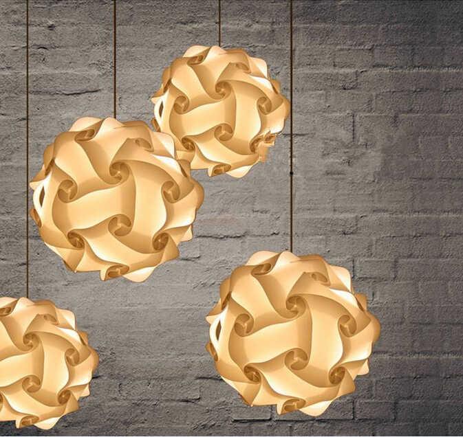 Белый 25 см/30 см/40 см современные DIY элементы IQ головоломки ZE лампа Потолочная люстра подвесной светильник шар освещение 110-240 В