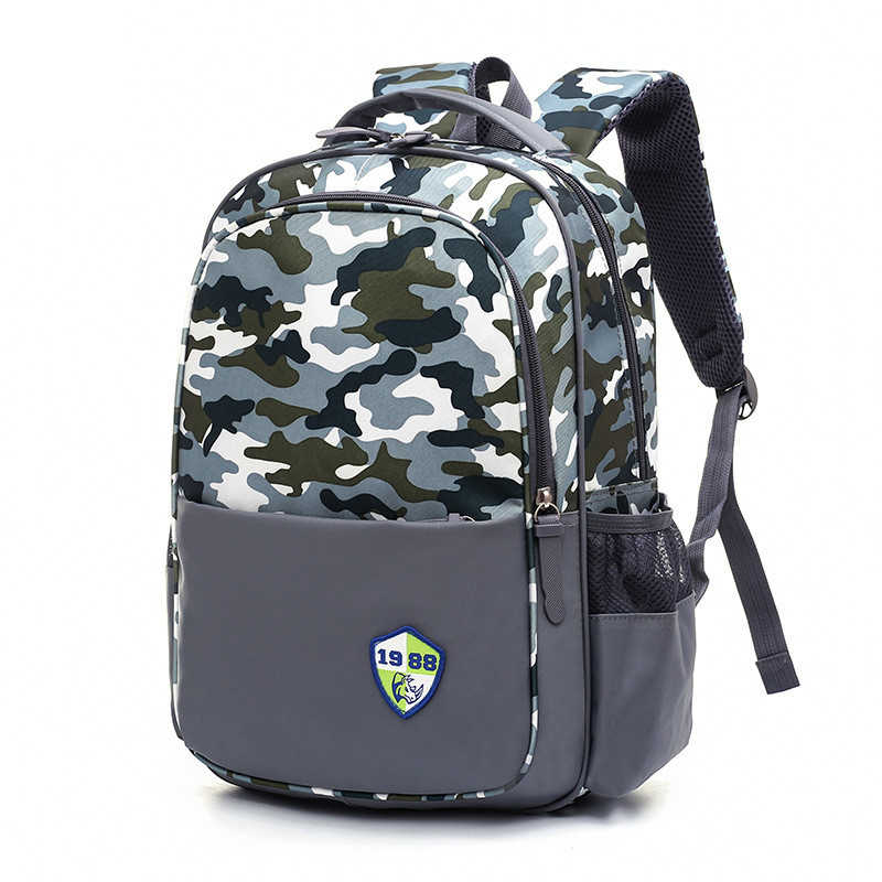 f3e229782a8 Waterproof children school bags Girls Boys Kids Satchel Orthopedic schoolbags  Camouflage primary school backpack mochilas infant