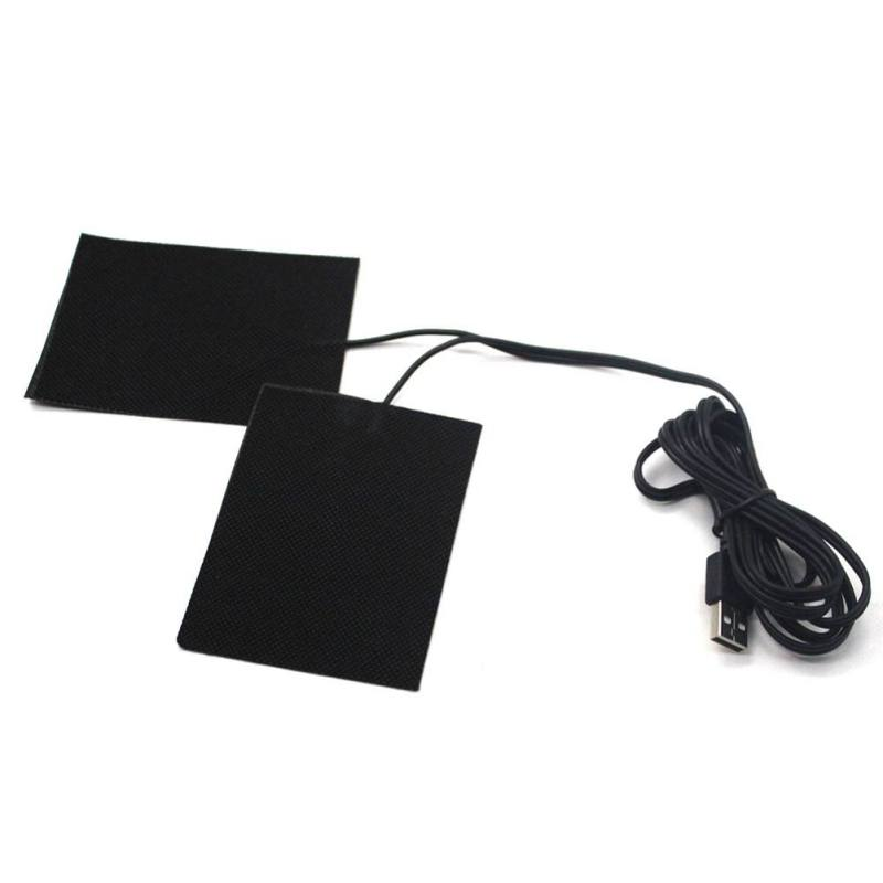 USB Charged Warm Paste Pads Waterproof Carbon Fiber Heating Pad Safe Portable Heating Warmer Pad For Vest Jacket Cloth Supplies