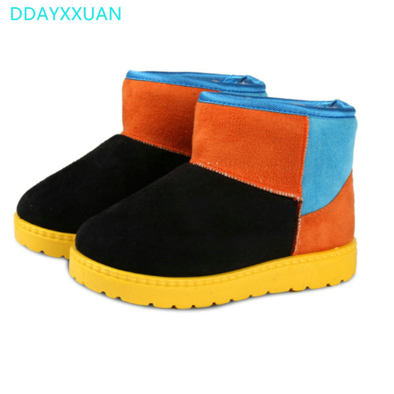 Children Boots 2017 New Toddler Winter Thick Warm Shoes Cotton-Padded Suede Boys Girls Boots Boys Snow Boots for Kids ShoesChildren Boots 2017 New Toddler Winter Thick Warm Shoes Cotton-Padded Suede Boys Girls Boots Boys Snow Boots for Kids Shoes