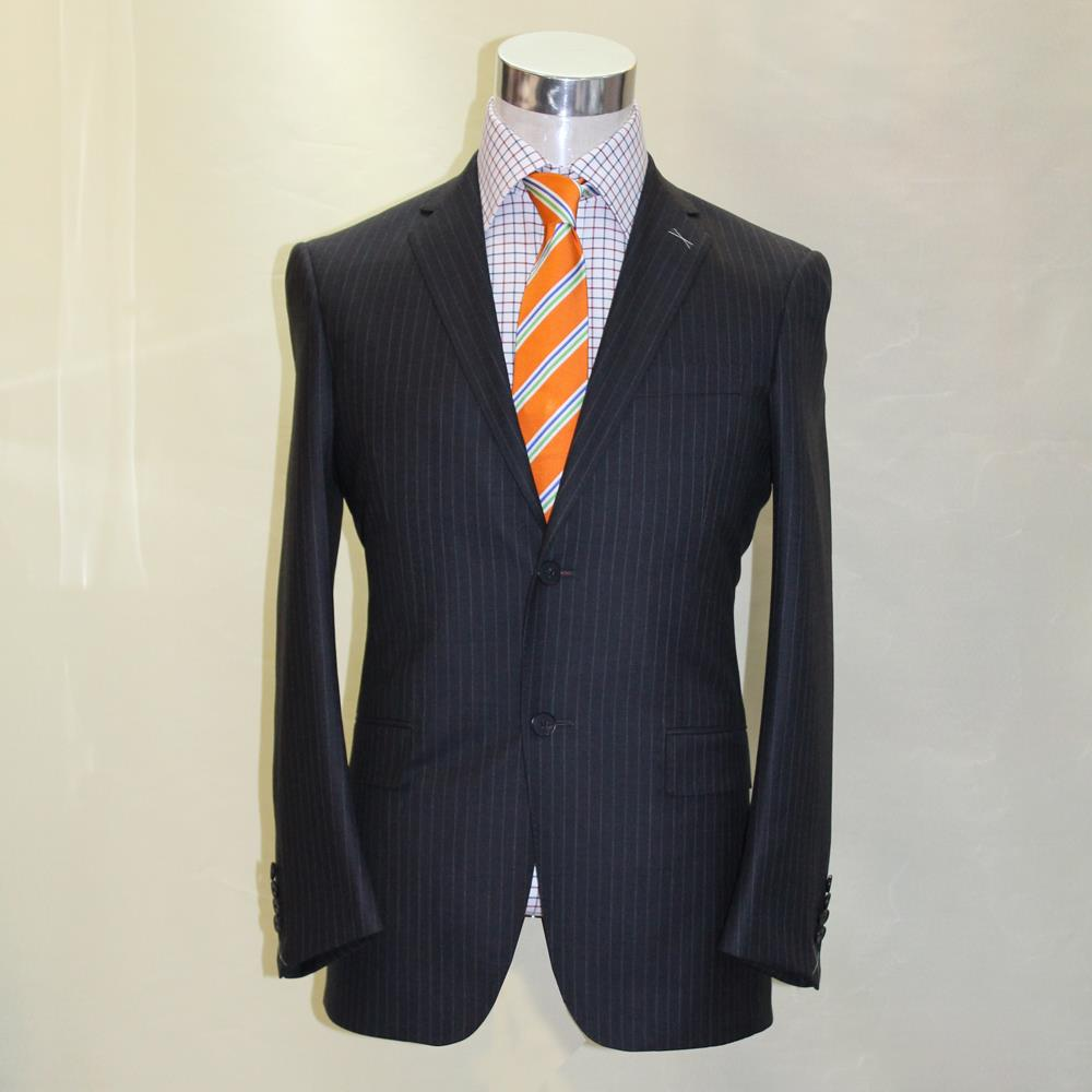 dark grey with white chalk stripe man s business office formal font b suit b font