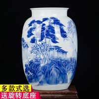vase ornaments hand painted antique new Chinese blue and white porcelain vase painting the living room decoration