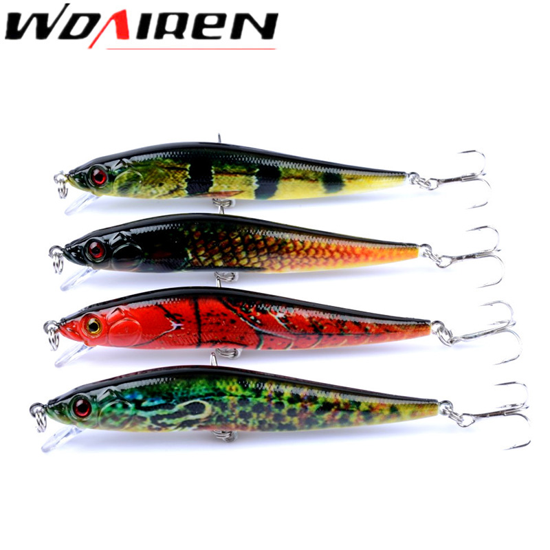 WDAIREN 4Pcs/lot Fishing Lures Set hot Models Wobbler Fishing Bait Minnow Lure and Crank bait Quality Fishing Tackle WD-412 fishing lures 2017 43x set mixed models 43 clolor mix minnow lure crank bait tackle s baits pesca fishing accessories