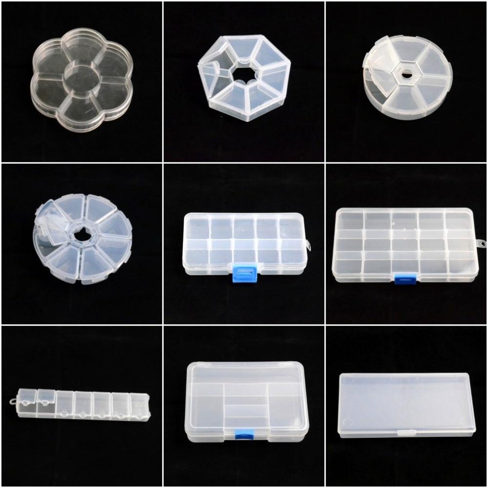 Adjustable Jewelry Necklace Transparent Storage Box Case Holder Craft Organizer Beads Jewelry Container