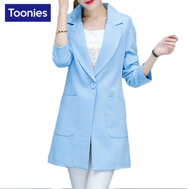 2017 New Fashion Women Blazers and Jackets Long Sleeve Blazer Feminino 7 Colors Blaser Office Ladies Suits Single Button Blazers