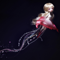 Free shipping doll BJD 1/8 jellyfish lumu toy sd model girl nude color high quality doll give up toy shop character gift