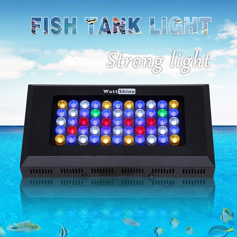 Aquarium LED Light 165W Full Spectrum Fish tank aquatic animal Coral Reef Grow Fixture Drop-shipping 2 years warranty