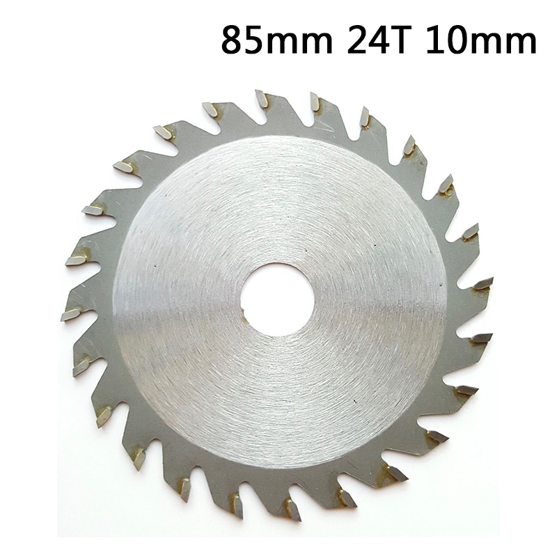 Saw Blade Disc 85mm 24T 10mm Bore TCT Circular Saw Blade Disc Cutter Wood Metal Plastic Cutting Saw Blades