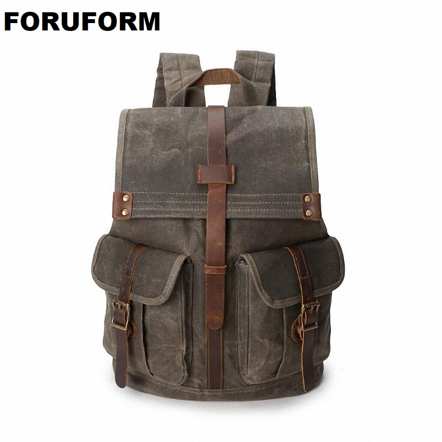 Men Women Backpack Vintage Waterproof Canvas Backpack School Bag Men's Travel Backpack Mochila Men Shoulder Bag Female LI-2054 men student backpack vintage canvas backpack shoulder bag school bag travel bag book pack mochila satchel knapsack women bags