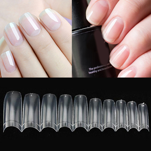 faux ongles transparent