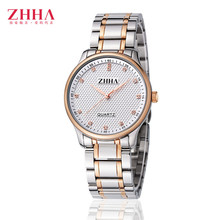 ZHHA Couple Lovers Watches Women Gold Watch Men Top Brand Lxury Famous Wristwatch Male Female Clock