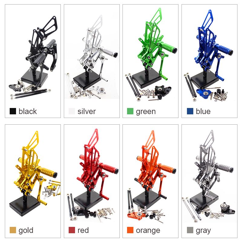 For Honda CBR600RR CBR 600RR 2003 - 2006 CNC Motorcycle Rear Sets Rearset Footrest Footpegs Foot Pegs For CBR600 F4 2001 - 2004 motorcycle accessories front foot rests pedal bracket assembly kit for honda cbr600rr f5 2003 2004 2005 2006 cbr600