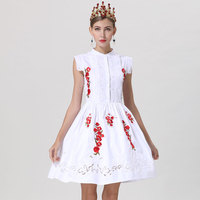 Red RoosaRosee New Elegant Hollow out Embroidery Sleeveless Lady White Cotton Dresses 2019 Designer Women Spring Summer Vestidos